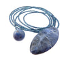 Blue Sodalite Diane Keaton Lariat Necklace Somethings Gotta Give Lasso Necklace