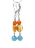 Yellow Citrine, Blue Peruvian Amazonite, Carnelian Gemstone Earrings  - DAMALI by GemstoneGifts Handmade Jewelry