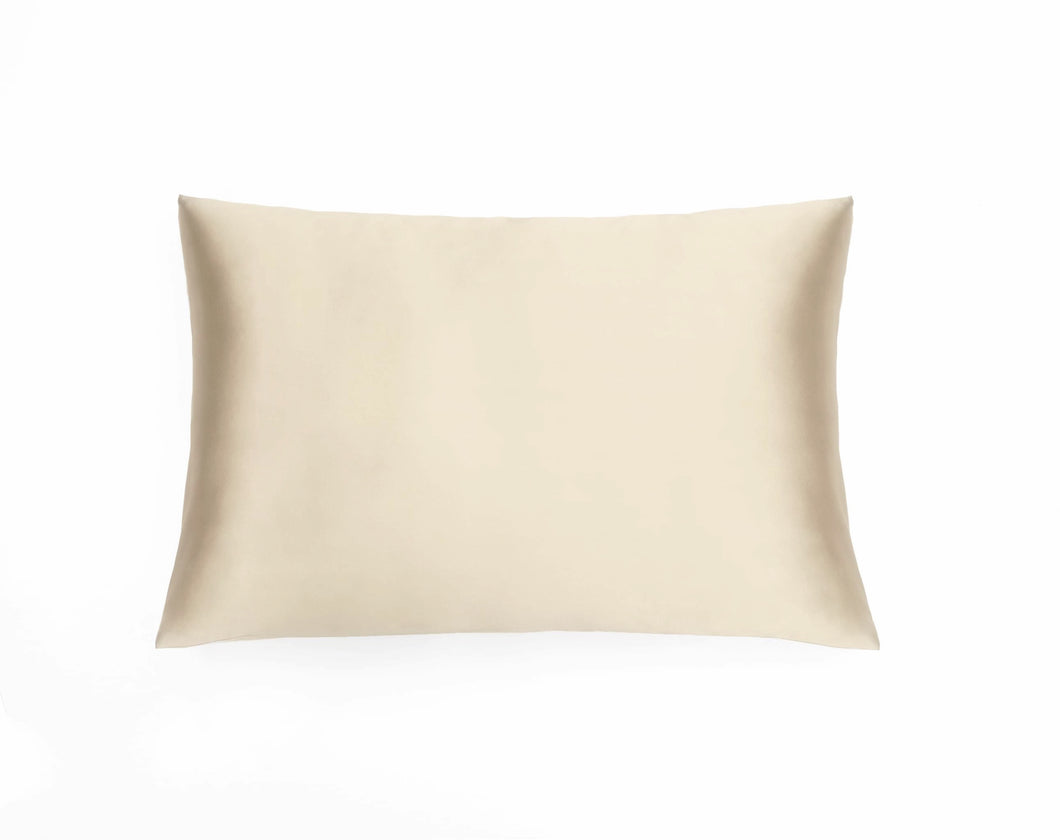100% Mulberry silk pillowcase CATHERINE, 25 mom silk, light cream, Cambridge