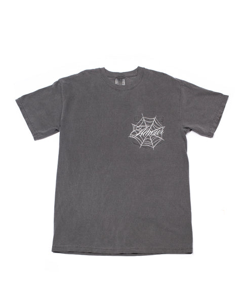 Spiderweb Pocket Tee (Charcoal)