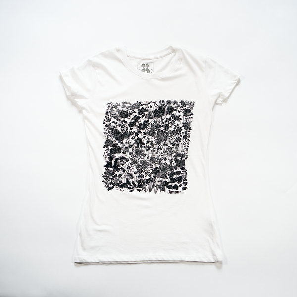 Women's Slim Fit Flower Tee