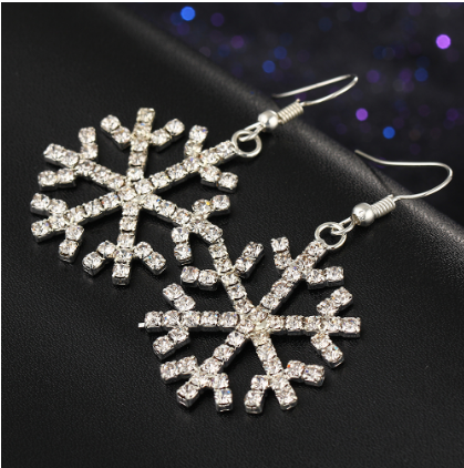 Snowflakes Crystal earrings - Christmas Gift 🎁