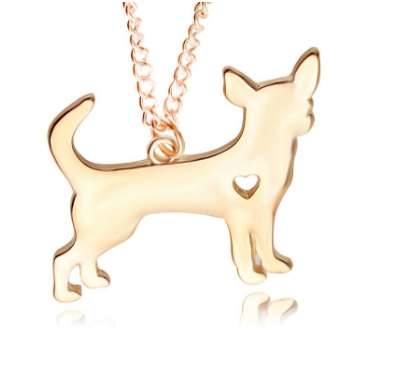 Chihuahua Gold & Silver Necklace - For Chihuahua Lover