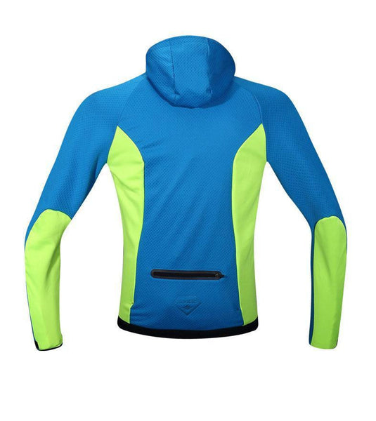 2017 Santic Thermal Hooded Cycling Jacket Composite Carbon Fiber W/ PU Windproof & Waterproof MTB Bike Jersey Sports Windbreaker