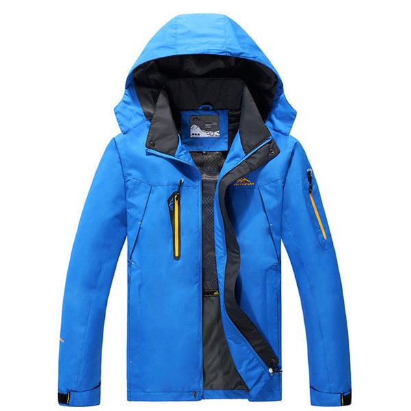 2016 Autumn New Mens Fashion KingSize 4XL 5XL 6XL 7XL 8XL Jacket Man Brand Hooded Windbreaker Hidden Pockets Coat