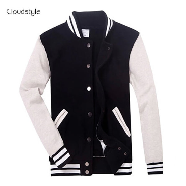 2016 Brand Clothing Baseball Jacket Men Sweatshirt College Sportswear Jackets Casual Slim Fit Jacket Mens Clothing 10 Colors