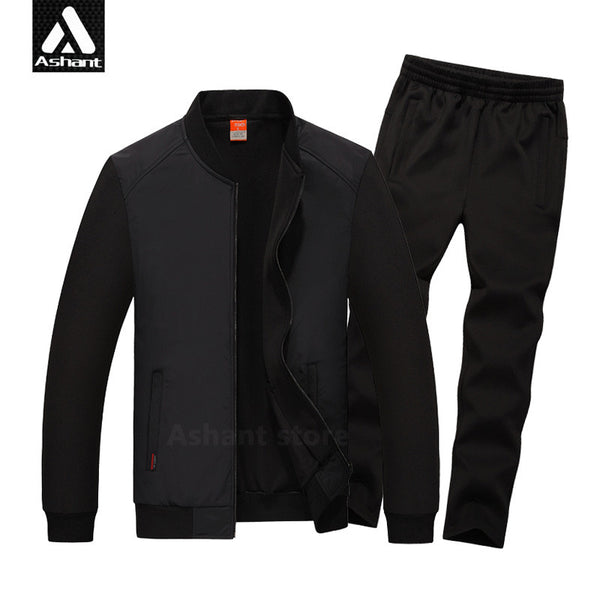 2017 Men's Brand Tracksuits Set Jacket+Pants Plus Size 4XL 5XL 6XL 7XL 8XL Casual Autumn&Spring Fitness Clothing