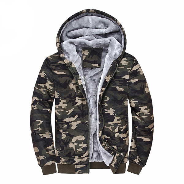 2017 New Arrival Winter Men Hoodies Tracksuits Hooded Men Male Warm Thick Sweatshirt Camouflage Hoodies Plus Thick Velvet