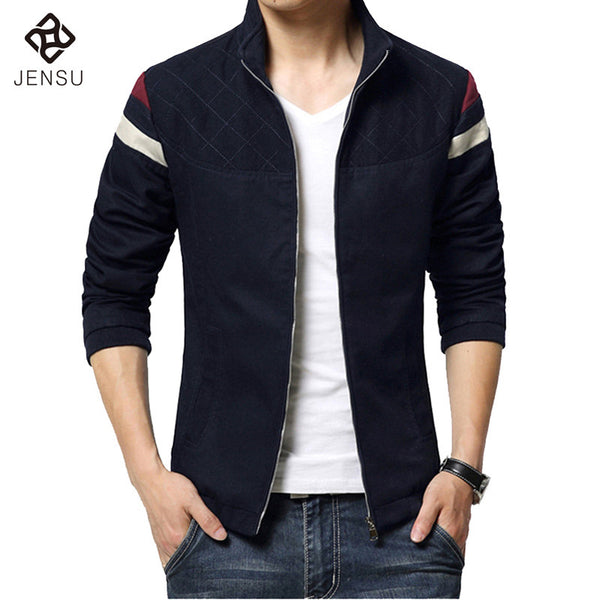 2016 New Fashion Brand Jacket Men Trend Patchwork Korean Slim Fit Mens Designer Clothes Cotoon Men Casual Jacket Slim 4XL 5XL