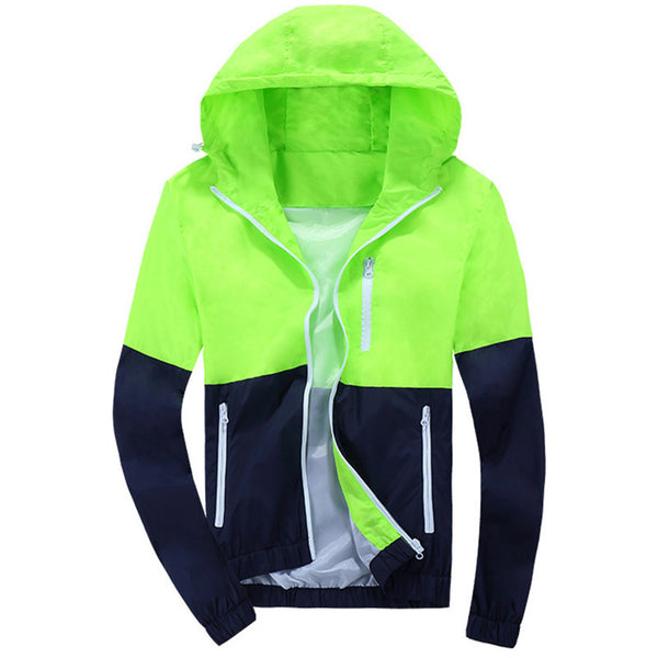 2017 Stylish Fashion High Quality  Jacket Coats, Men Causal Hooded  Jacket,Men Thin Windbreaker Zipper Coats Outwear