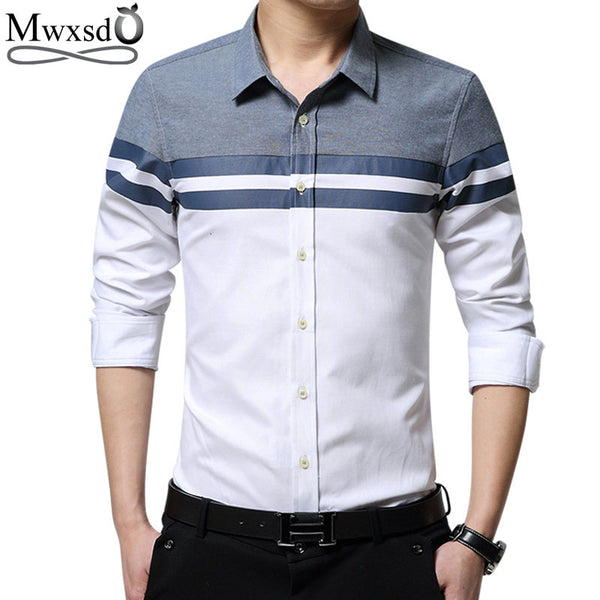 2017 spring new brand casual men shirt long sleeve slim Fit shirts Men's dress Shirt vetement chemise homme