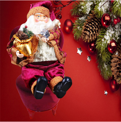 Santa Claus Doll Figurine Toy - Ornament Decoration For Room