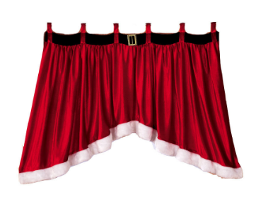 Door & Window Drape Panel Christmas Curtain