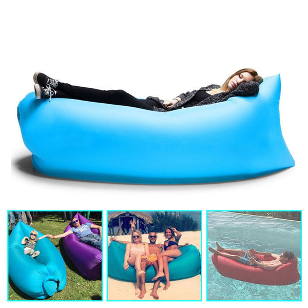 Inflatable Lounger Portable Outdoor Hangout Air Couch Sofa Bed. 65% OFF