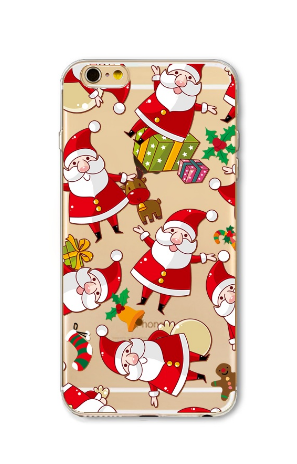 Christmas Case for iPhone transparent soft silicone Protector Cover