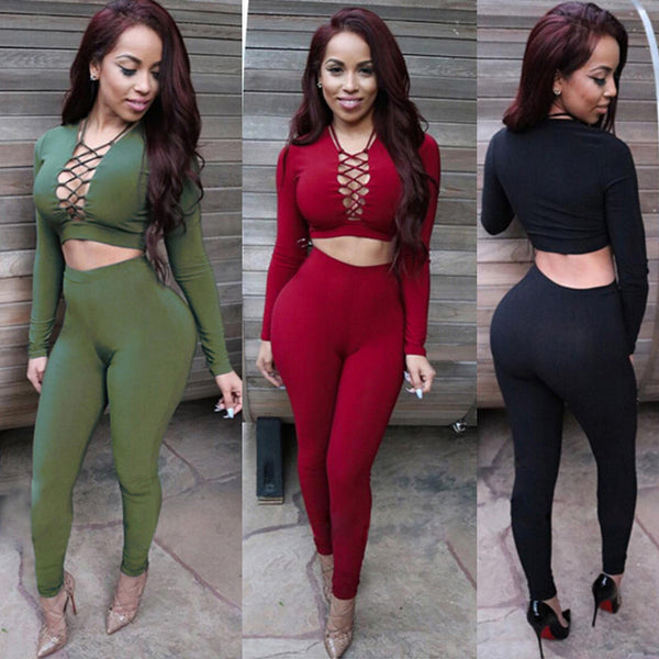 Autumn Elegant Women Rompers Jumpsuit Winter Fleece Two Pieces Outfits Bodysuit Long Sleeve Lace Up Sexy Club Bodycon Playsuit