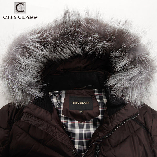 Mens Winter Jackets And Coats Casual Short Isosoft Stand collar Removable Silver Fox Hat Outwear Free Shipping - FREE SHIPPING