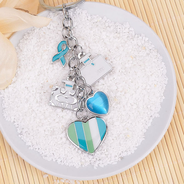 Women bags Love Heart Keychain car Opal Brand hearthstone Key chains Pendant for bags Bag holder Chaveiro feminino