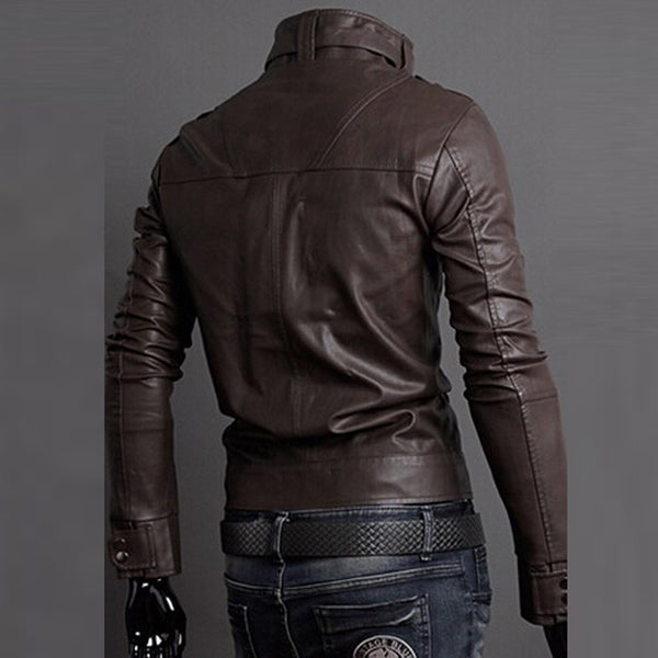 HEE GRAND 2016 Classic Style Motorcycling PU Leather Jackets Men Slim Male Motor Jacket  Men's Clothes