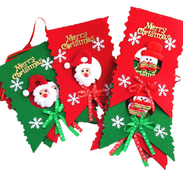 Snowman Ornaments Set 6 flags - Christmas Decoration