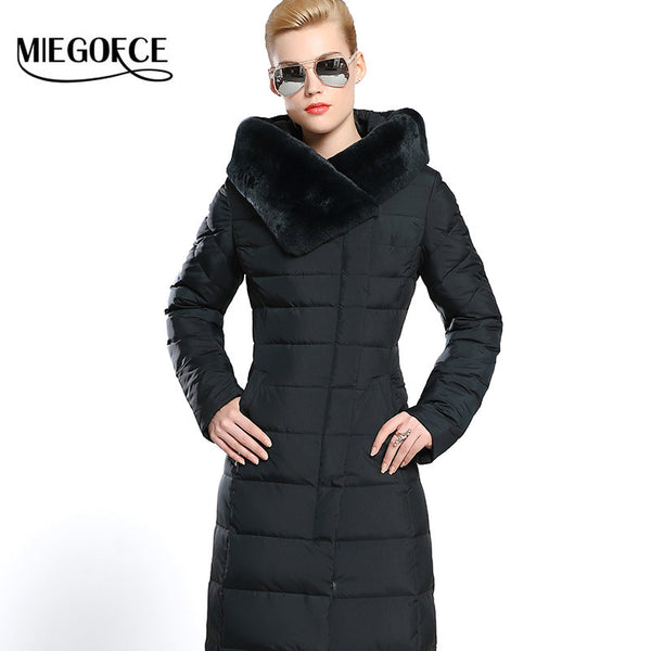 New Winter Collection Winter Women Down Coat Jacket Warm High Quality Woman Down Parka Winter Coat withRabbit Fur - FREE SHIPPING
