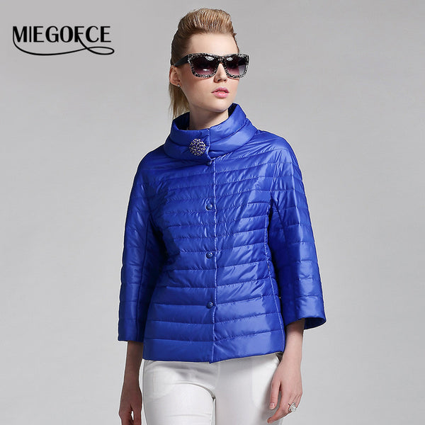 New spring short jacket women fashion coat padded cotton jacket outwear High Quality Warm parka Women's Clothing - FREE SHIPPING