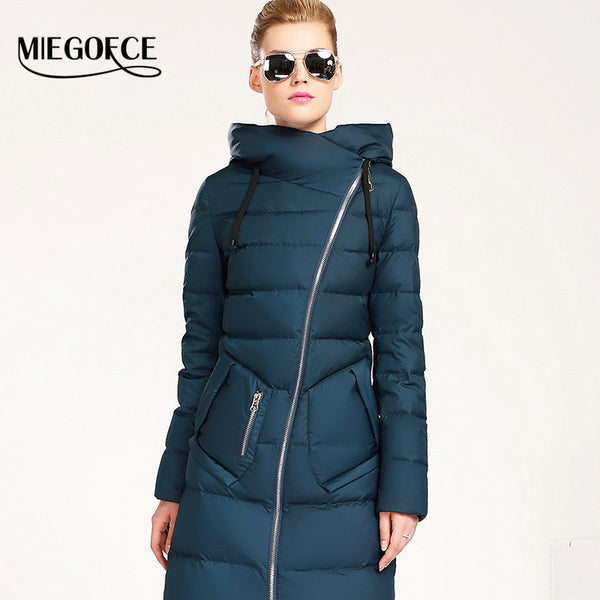 New Winter Collection 2017 Women's mid-Length down Jacket Warm Jacket Coat for Women High Quality - FREE SHIPPING