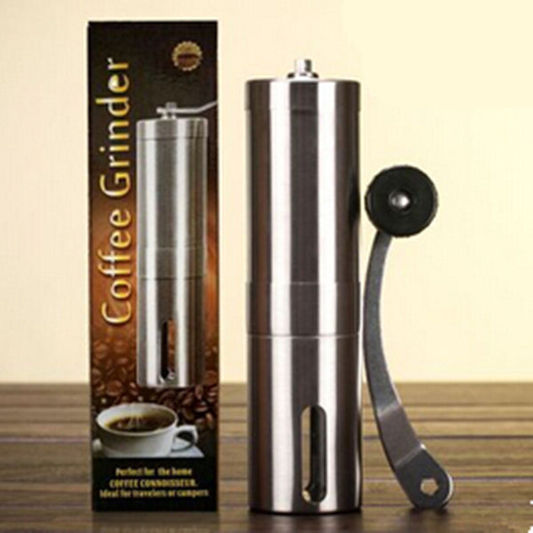 Manual Coffee Grinder Conical Burr Mill for Precision Brewing Brushed Stainless Steel