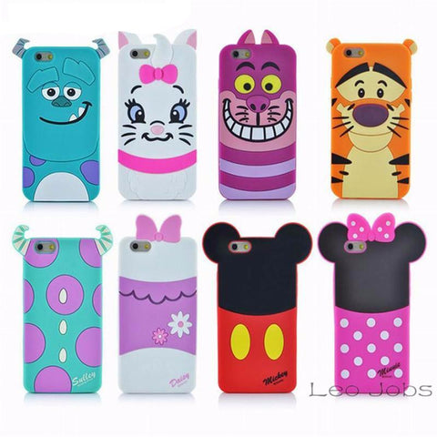 New 3D Cartoon Silicon iPhone Cases
