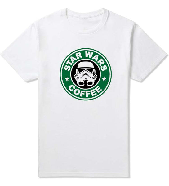 New Star Wars Darth Vader T Shirt Funny Design Pattern Men Tee Shirts Top Star Wars Coffee Mens Clothing