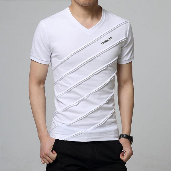 Newest 2017 men's fashion short sleeve Cotton V-neck short-sleeved Tshirt lettersprinted t-shirt Harajuku tee shirts Casual tops