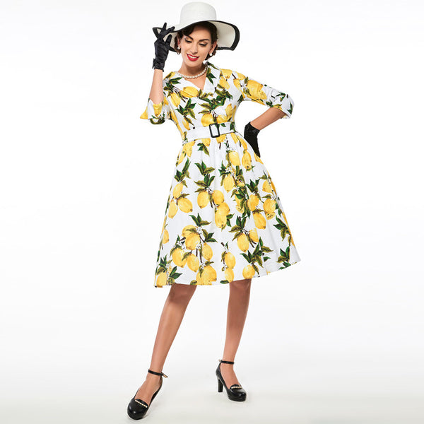 Dress Lemon Print - Party Dress