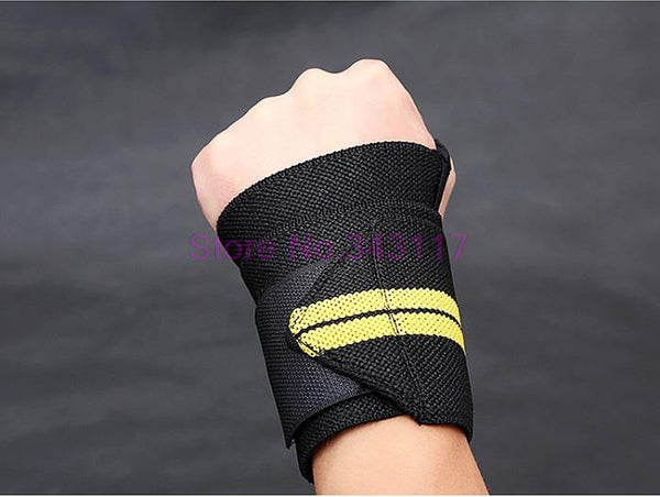 Sports Weightlifting Wrist Support Fitness Training Gloves  Weight Lifting Wrist Bands Straps Wraps Gym Weightlifting