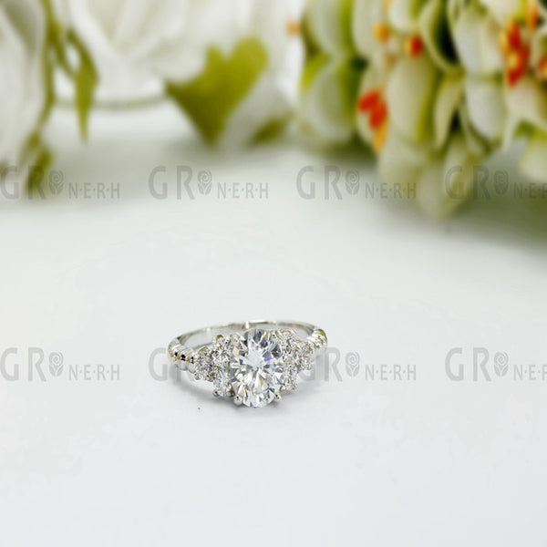 Fashion Zirconia Wedding Engagement Rings For Women white Gold Plated Fashion Jewelry Female Ring Bijoux  Wholesale