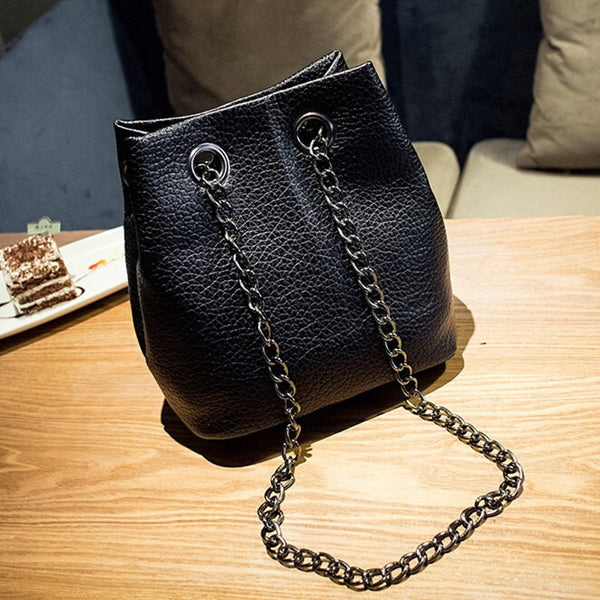 2017 spring and summer fashion chain bucket shoulder bag messenger bag mini crossbody bags for women's handbag