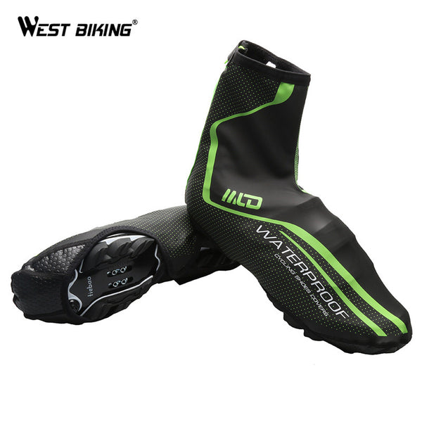 Smooth Cycling Waterproof Shoe Cover Green Windproof Reflective Dust-proof Sport MTB Bike Bicycle Cycling Shoe Cover