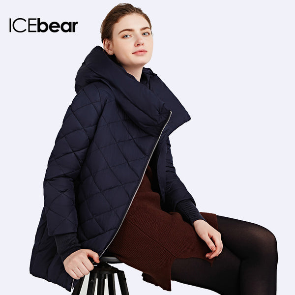 Inclined Zipper Coats Women's Windproof Jacket High Quality Parka Woven Warm  Coat Anorak - FREE SHIPPING