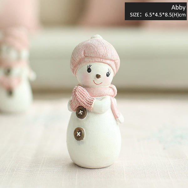 Resin Cute Snowman Doll - Christmas Decorations