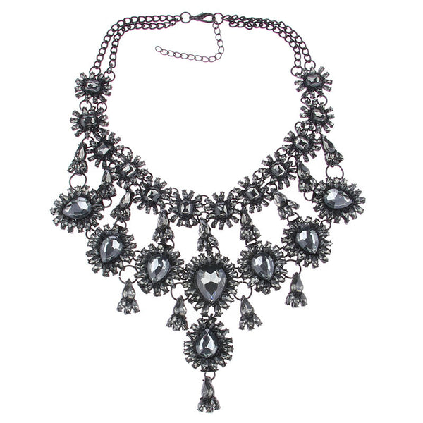 New Arrival Fashion Design Jewelry Big Brand Tassel Gem Good Quality Statement Necklaces & Pendant For Women Dress