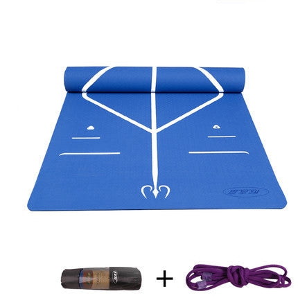 New 10mm Unisex Beginners Balanced Guide Line Yoga Mats Practice Pads Non-Slip Lose Weight Exercise Fitness Gymnastics Mat  - FREE SHIPPING