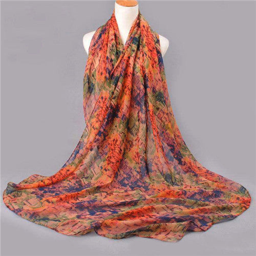 New Women Winter Cotton Voile Scarf Female Print Scraves Scarf Spring Shawl Pashmina Mujer Bandana Echarpes Foulards Femme