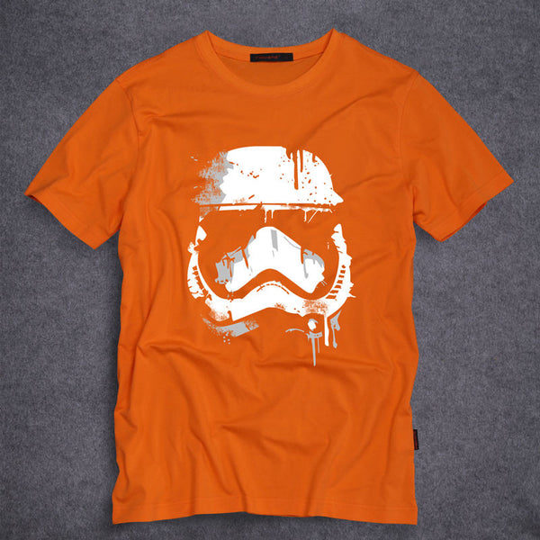 Star Wars Stormtrooper T Shirts Men Short Sleeve O Neck Top Tees Short Sleeve 100% Cotton t-shirt S-5XL