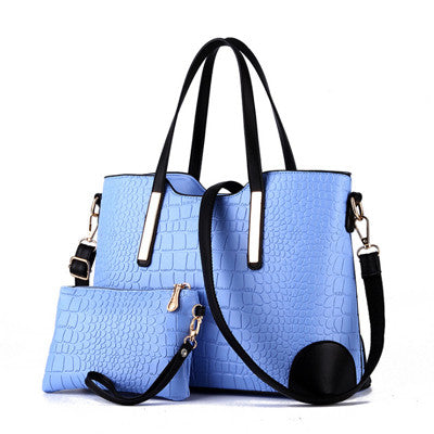 2017 Luxury Aligator Big Women Handbags Famous Brand Crocodile Lady Totes Shoulder Bag Female Messenger Bag Black Blue Red