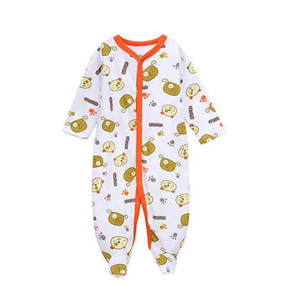 Mother Nest 2017 Newly Baby Romper Jumpsuit Winter Clothing Cute Car Printed Kids Clothing Autumn 100% Cotton Baby Boy Clothes
