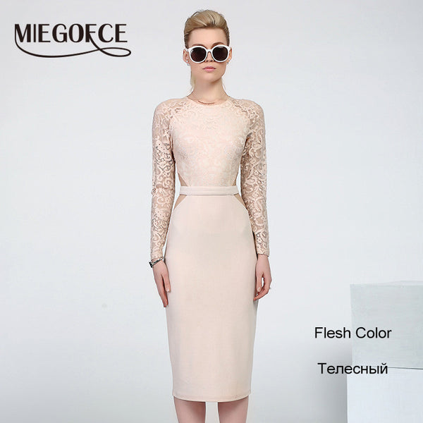New Design Women Dresses to the knee Fashion Spring Female Casual Office Pencil Dresses Fitted hot selling