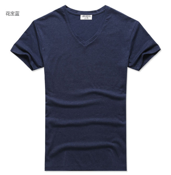 summer Men V-neck print T-shirts brand tee cotton clothes new Men short sleeve tshirt men 3d t shirt printing casual tops