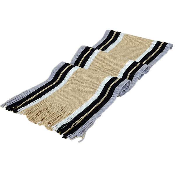 Winter scarf men faux cashmere striped knitted scarvess with tassel,fashion Bussiness designer scarfs cotton shawl,echarpe homme