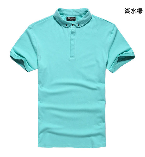 New 2017 Men's Polo Shirt For Men Polos Men Cotton Short Sleeve shirt Solid Polo Shirts Casual Breathable Sportswear