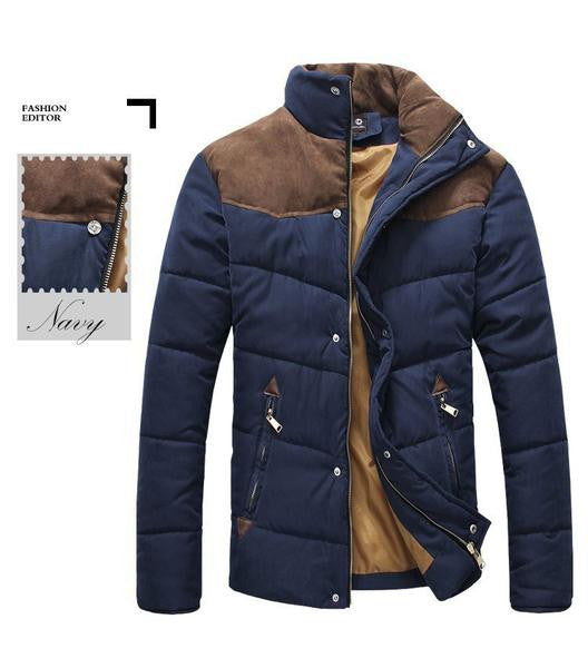 2017 Hot Sale Men Winter Splicing Cotton-Padded Coat Jacket Winter Plus Size Parka High Quality