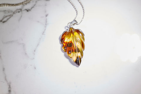 Amber Leaf Necklace